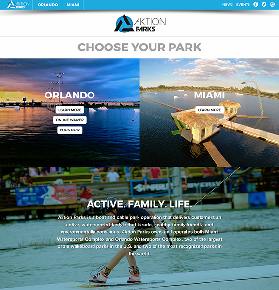 Aktion Parks Homepage