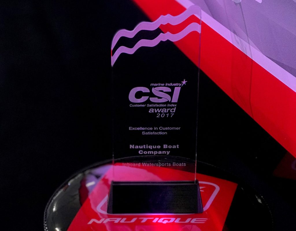 NAUTIQUE EARNS THE NMMA'S CSI AWARD FOR THE TWELFTH